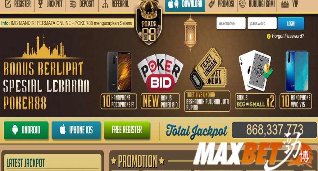 Agen Poker88 Online Terpercaya Indonesia